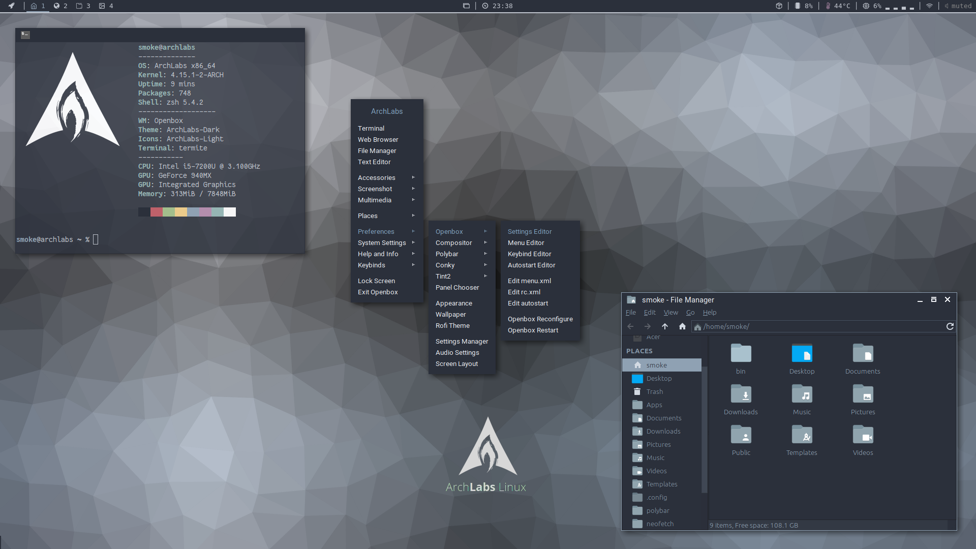 ArchLabs Linux – Inspired by BunsenLabs  Powered by Arch Linux